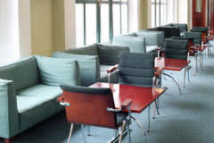 Sofas and tables in Commerce and Industrial chamber of Russia Royalty Free Stock Images