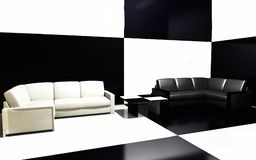 Sofas beside wall Stock Image