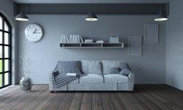 Soffa i modern lägenhetinställning Arkivbild