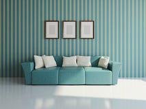 Soffa med kuddar vektor illustrationer