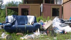 soffa som home förstörs Royaltyfri Foto