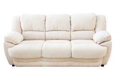 Soffa som isoleras på vit bakgrund royaltyfria foton