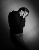 Sofferenza della giovane donna Immagini Stock Libere da Diritti