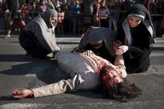 Sofferenza di Gesù Cristo Fotografia Stock Libera da Diritti