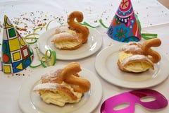 Soffi crema per le variazioni del dessert Fotografia Stock Libera da Diritti