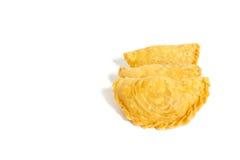 Soffi del curry isolati su un fondo bianco Fotografia Stock Libera da Diritti