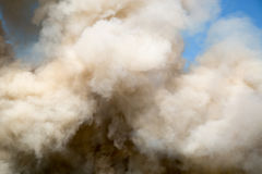 Soffi di fumo lanuginosi Immagini Stock