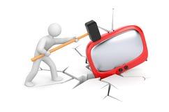 Soffi la vostra TV illustrazione di stock