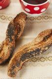 Soffi (panini) con il papavero e il seasame Immagine Stock