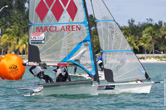 Soffiatti and Tunnicliffe in close competition at the 2013 ISAF Royalty Free Stock Photo