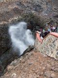 Soffiatura di Bufadora della La in Ensenada, Baja, California, Messico Fotografie Stock