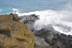 Soffiatura di Halona, Oahu Fotografie Stock Libere da Diritti