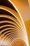 Soffitto astratto di architettura della curva Fotografia Stock