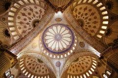 Soffitto blu della moschea Fotografia Stock