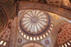 Soffitto blu della moschea Fotografie Stock