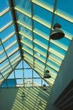 Soffitto blu nell'ufficio, giusta parte Fotografia Stock