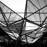 Soffitto centrale della stazione ferroviaria di Napoli Immagine Stock Libera da Diritti