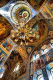 Soffitto, chiesa a St Petersburg Russia Fotografia Stock