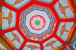 Soffitto cinese del loto Fotografia Stock Libera da Diritti