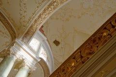 Soffitto con un ornamento dell'oro Fotografia Stock Libera da Diritti