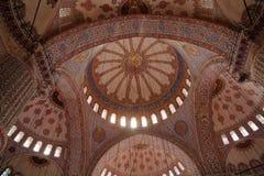 Soffitto decorato della moschea blu Fotografie Stock