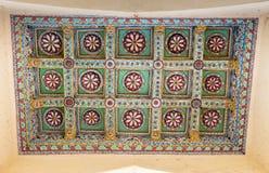Soffitto decorato rettangolare al palazzo di Nayak Fotografia Stock Libera da Diritti