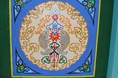 Soffitto decorato variopinto in un tempio nel parco nazionale di sette rupe della stella Fotografia Stock Libera da Diritti