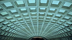 Soffitto del calcestruzzo della stazione della metropolitana del Washington DC Fotografie Stock