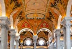 Soffitto del congresso delle biblioteche in Washington DC Fotografie Stock Libere da Diritti
