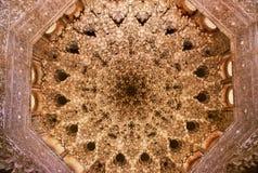Soffitto del palazzo di Alhambra Immagine Stock Libera da Diritti