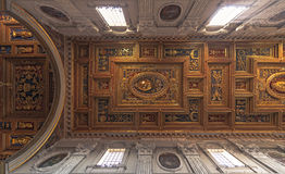 Soffitto del San Giovanni nella basilica di Laterano Fotografia Stock Libera da Diritti