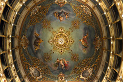Soffitto del teatro di opera della città dei Carpi Fotografie Stock