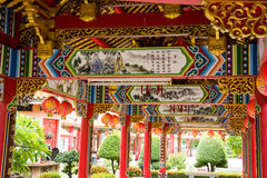 Soffitto del tempio cinese Immagine Stock
