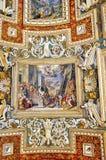 Soffitto del Vaticano, Italia fotografia stock libera da diritti