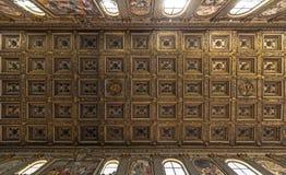 Soffitto della basilica delle Mura di fuori di San Paolo Immagini Stock