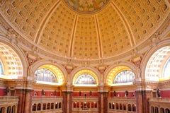 Soffitto della Biblioteca del Congresso, Washington, DC Fotografia Stock Libera da Diritti