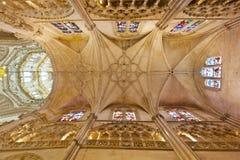 Soffitto della cattedrale a Burgos, Spagna immagini stock libere da diritti
