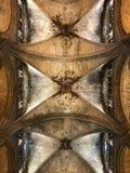 Soffitto della cattedrale di Barcellona Fotografia Stock