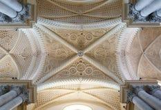 Soffitto della cattedrale di Erice, provincia di Trapani sicily Fotografie Stock