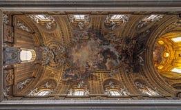 Soffitto della chiesa di Gesú, Roma Immagine Stock Libera da Diritti