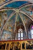 Soffitto della chiesa medievale fortificata in Malancrav, la Transilvania Fotografia Stock Libera da Diritti