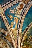Soffitto della chiesa medievale fortificata Malancrav, la Transilvania del sassone Fotografia Stock