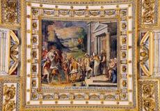 Soffitto della galleria nel museo del Vaticano Immagini Stock Libere da Diritti