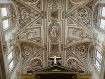 Soffitto della moschea di grea a Cordova immagini stock