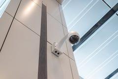 Soffitto della parete della videocamera di sicurezza del CCTV Fotografia Stock Libera da Diritti