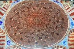 Soffitto della tomba di Suleyman il Kanuni magnifico Sultan Suleyman a Costantinopoli fotografia stock libera da diritti