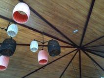 Soffitto di bambù di un hotel Fotografia Stock
