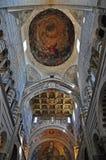 Soffitto di cattedrale a Pisa Immagini Stock