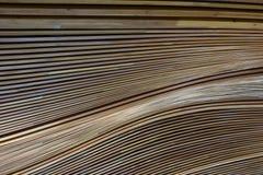 Soffitto di legno astratto Fotografia Stock