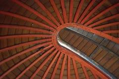 Soffitto di legno dell'osservatorio Fotografie Stock